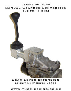 THOR Racing R154 gear lever extension